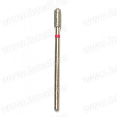 Φρέζα No. 15 Boron diamond rounded cylinder 3.1 mm, red