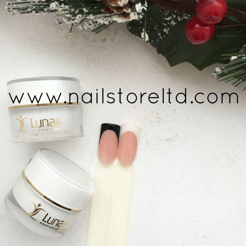"Gel-paint Lunail white ""KR1 sticky"" 5ml (with a sticky layer)"