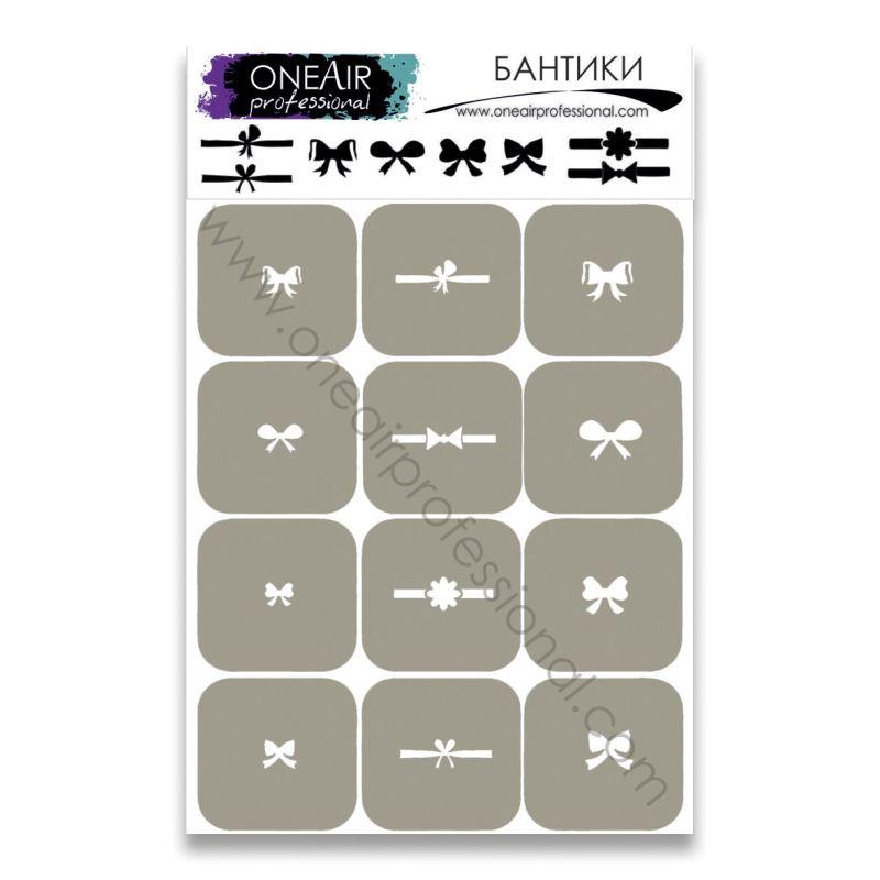 Stencils for airbrushing OneAir «Bows»