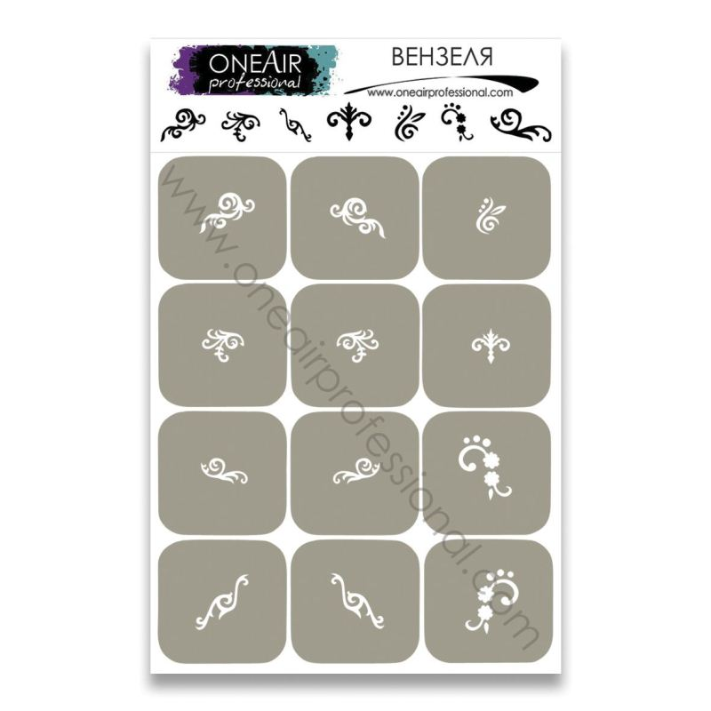 "Stencils for airbrushing OneAir ""Monogram"""