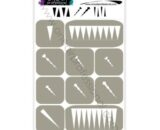 "Stencils for airbrushing OneAir ""Stilettos"""