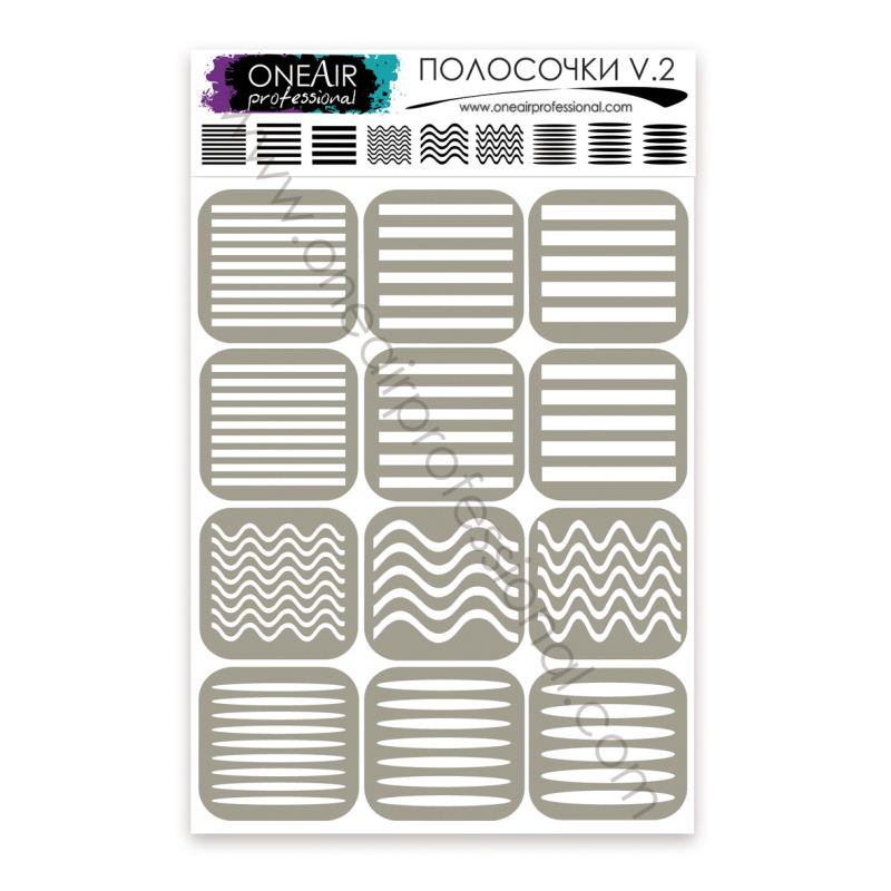 "Stencils for airbrushing OneAir ""Stripes v. 2 """