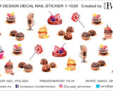 Decal nail sticker Sweets 2