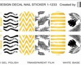 Decal nail sticker yellow pattern