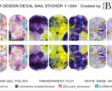Decal nail sticker Watercolor flowers