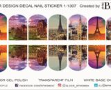 Decal nail sticker Sightseeing