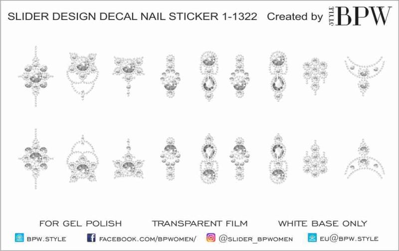 Decal nail sticker Stencils for rhinstones