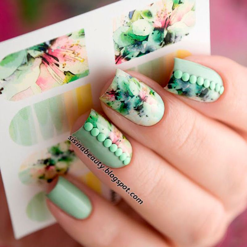 Decal nail sticker Flowers 3