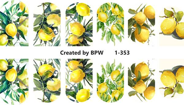 Decal nail sticker Lemons