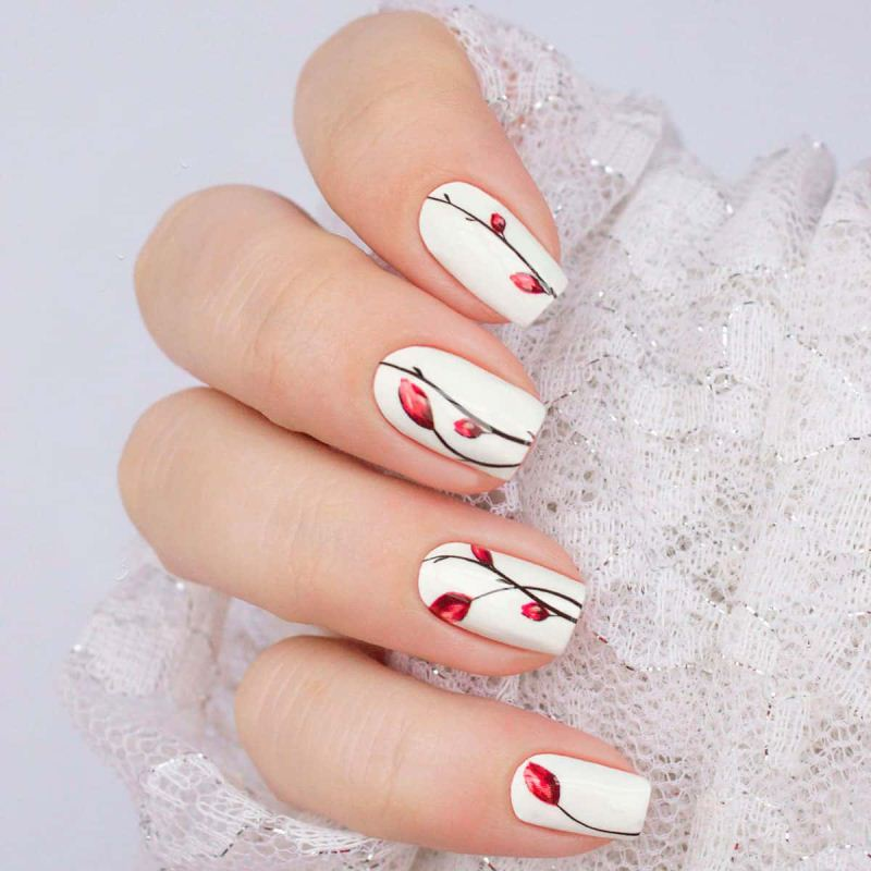 Decal nail sticker Flowers 2