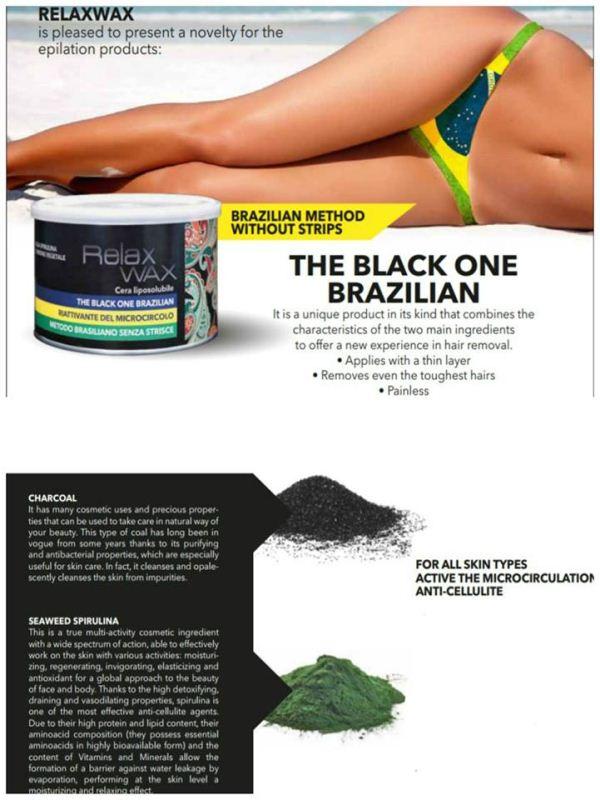 Κερί αποτρίχωσης Relax wax Brazilian Black 400 ml