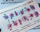 Decal nail sticker Flowers Silver Holo