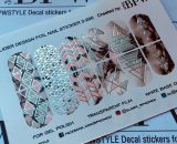 Decal nail sticker Geometry Silver