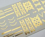 Decal nail sticker Geometric Gold