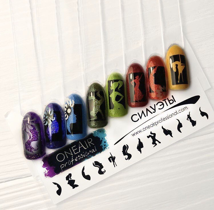 """Stencils for airbrushing on the nails OneAir """"Profile"""""""
