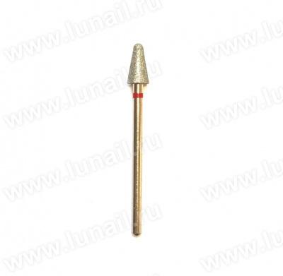 Φρέζα No. 26 Boron diamond rounded cone, red