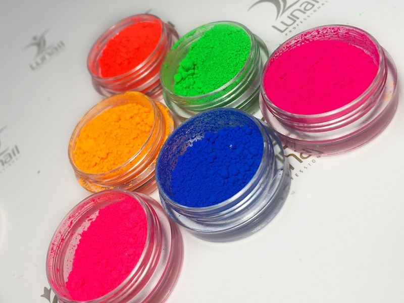 Fluorescent neon pigment Lunail (orange)