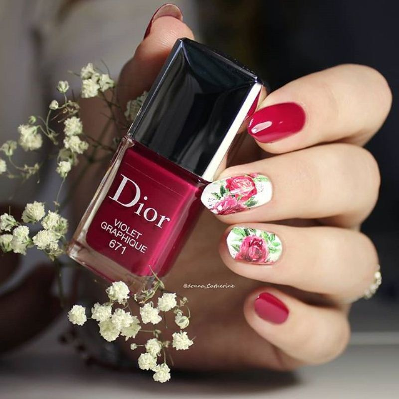 Decal nail sticker Peonies