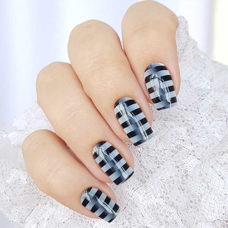 Decal nail sticker White stripes