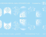 Decal nail sticker White designs