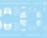 Decal nail sticker White designs