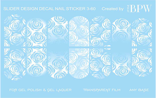 Decal nail sticker White roses