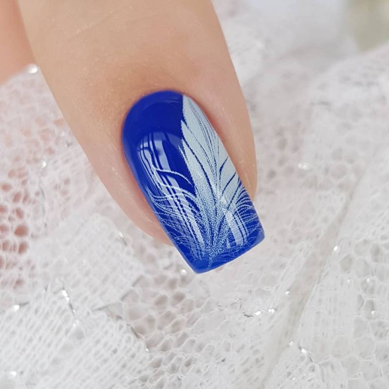 Decal nail sticker White feathers