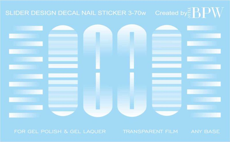 Decal nail sticker Geometry white