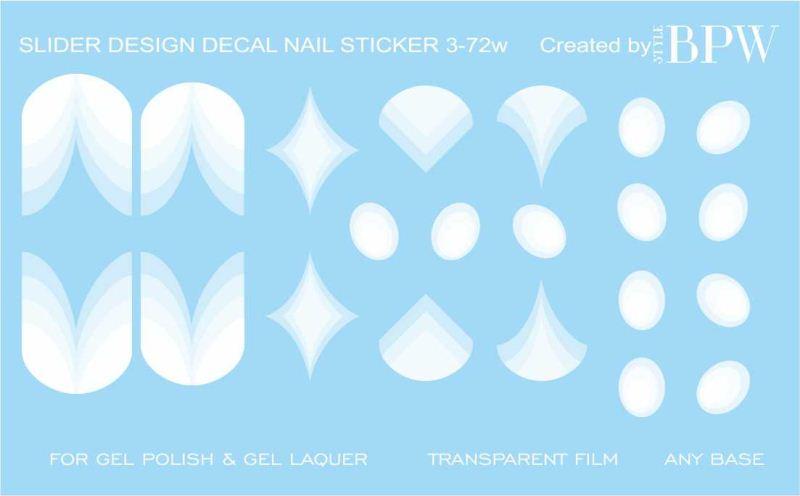Decal nail sticker Geometry white 2