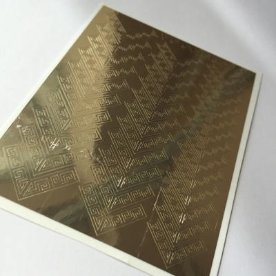 "Metallized stickers ""VS Sticker"" №17 (gold)"