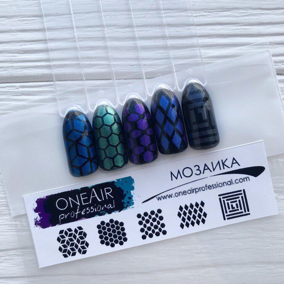 """Stencils for airbrushing OneAir """"Mosaic"""""""
