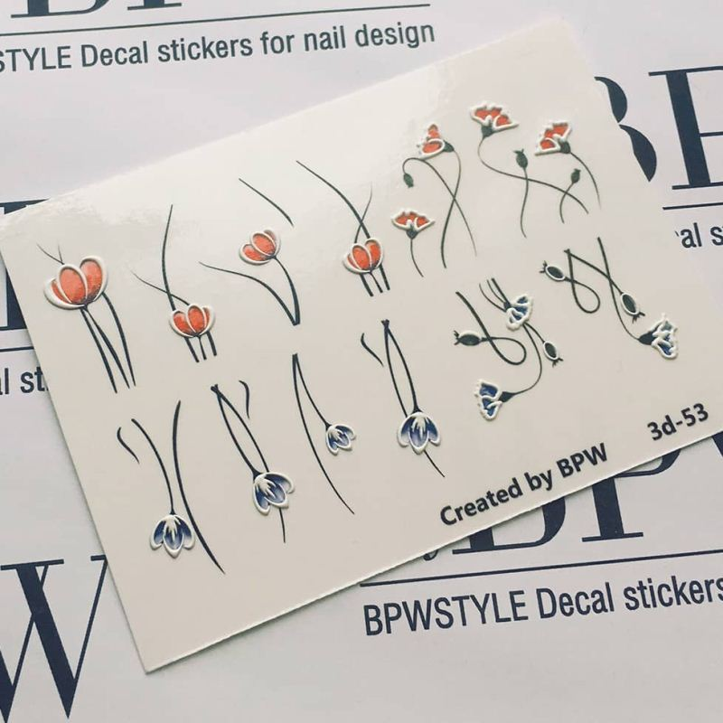 Decal sticker 3D effect Flowers mini