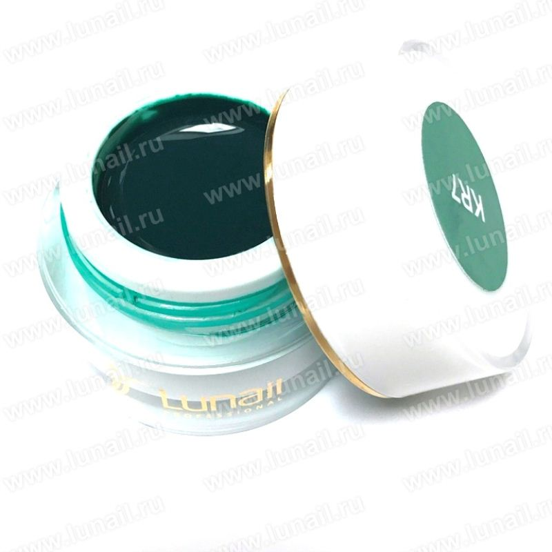"Gel paint Lunail green ""KR7"" 5 ml"