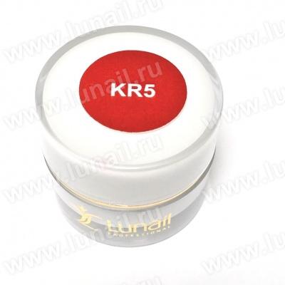 "Gel paint Lunail burgundy ""KR5"" 5 ml"