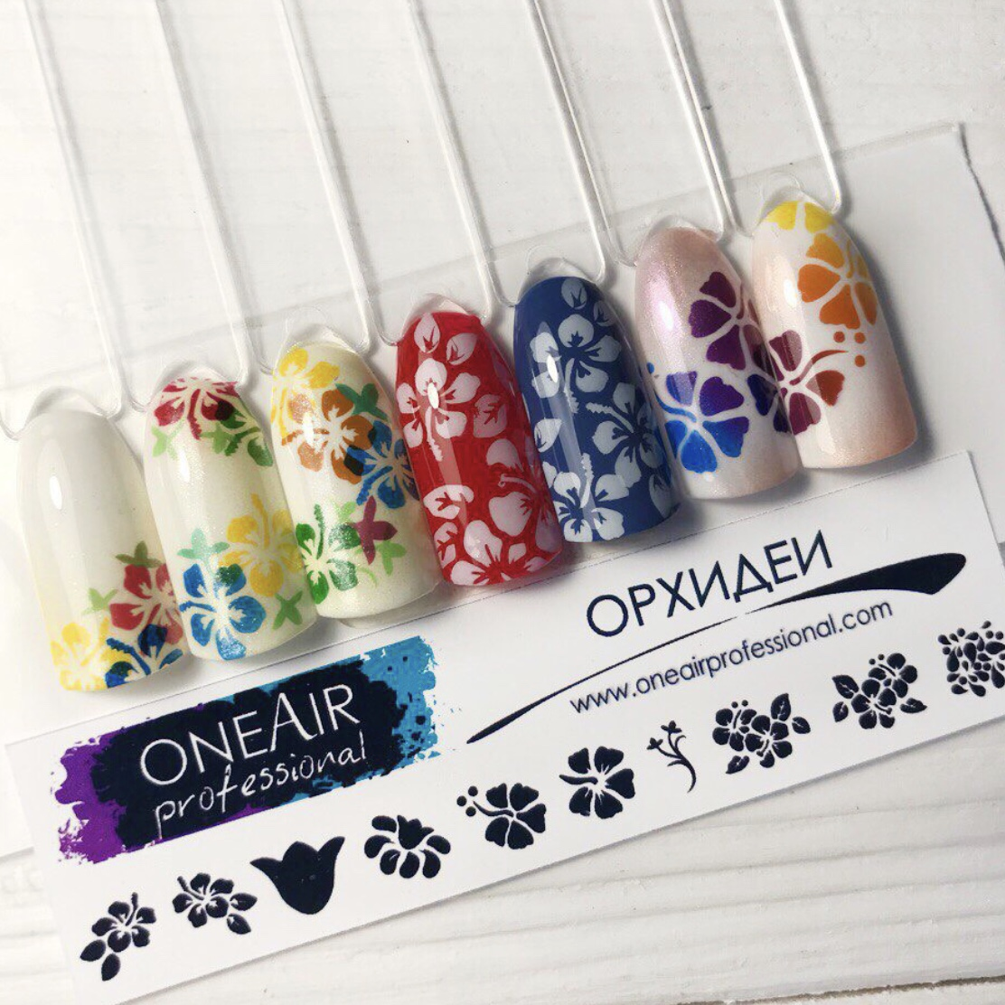 """Stencils for airbrushing OneAir """"Orchids"""""""