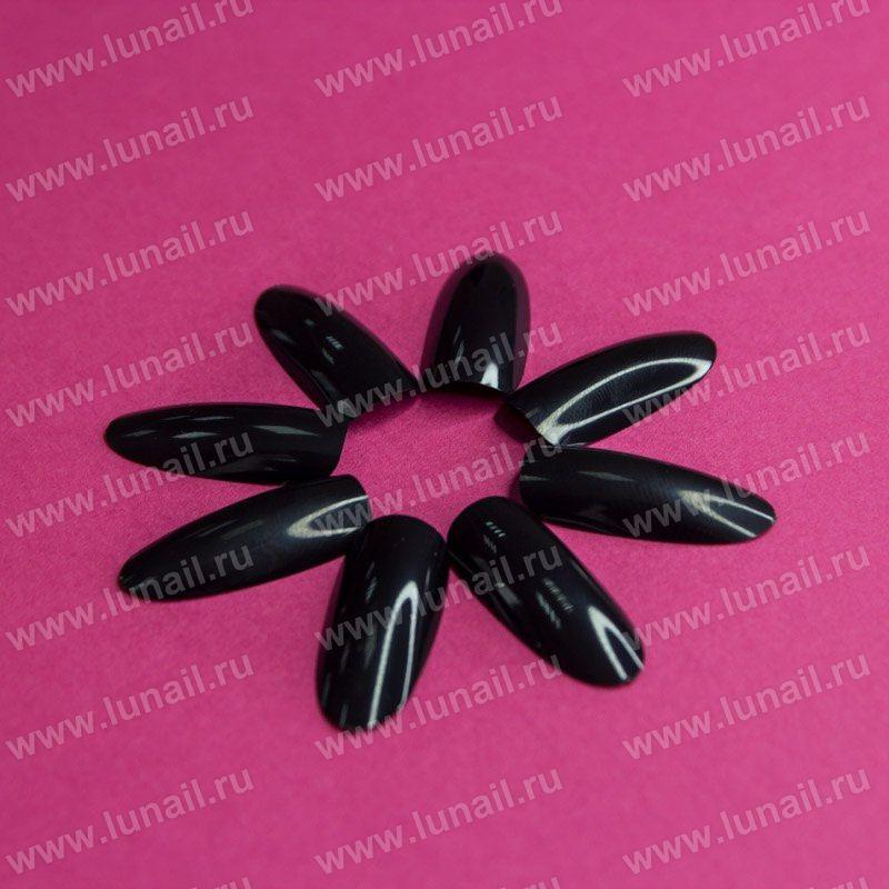 Tips Lunail №3 oval (black) 50pcs