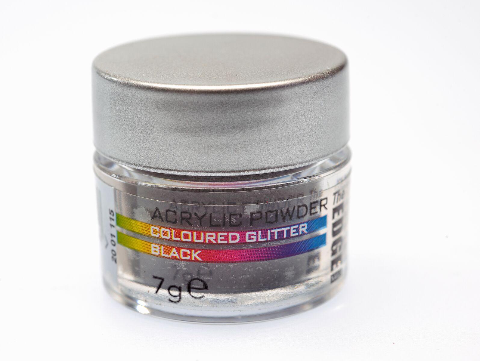 THE EDGE Acrylic Glitter Powder Black 7 gr