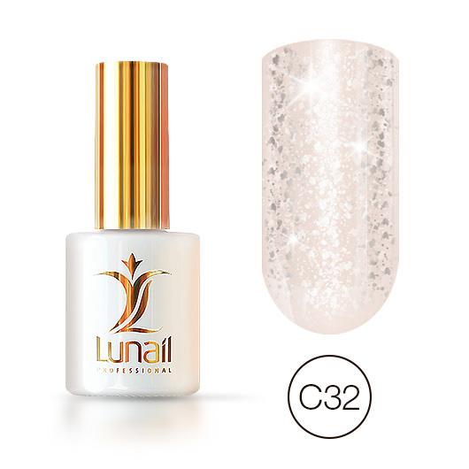 """Gel polish """"Yuki"""" C32 Lunail 10ml"""