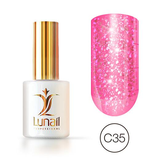 """Gel polish """"Yuki"""" C35 Lunail 10ml"""