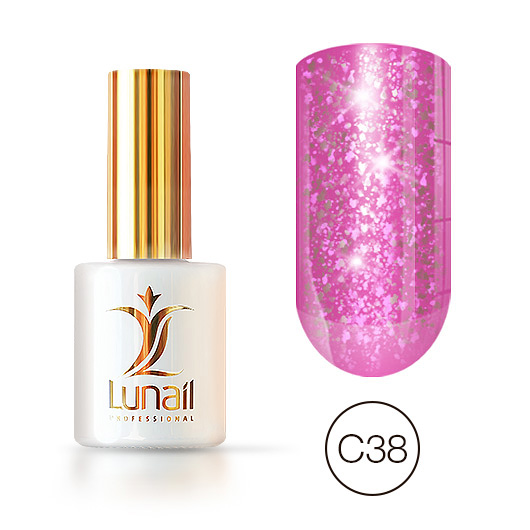 """Gel polish """"Yuki"""" C38 Lunail 10ml"""