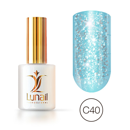 "Gel polish ""Yuki"" C40 Lunail 10ml"
