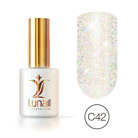 "Gel polish ""Holographic shine"" C42 Lunail 10ml"