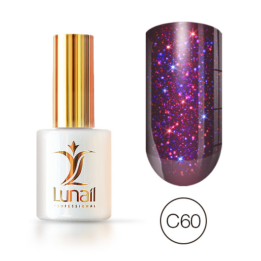 Gel-lacquer Holographic shine С60 Lunail 10ml