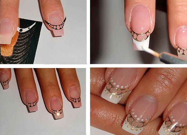 Metallic nail sticker silver -S00007