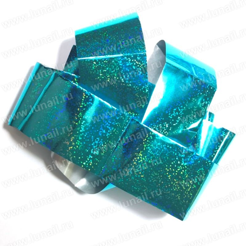 Foil holography turquoise