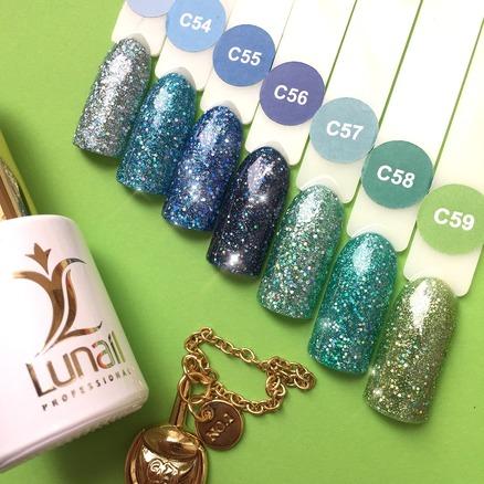 Gel polish «Holographic shine» C58 Lunail 10ml