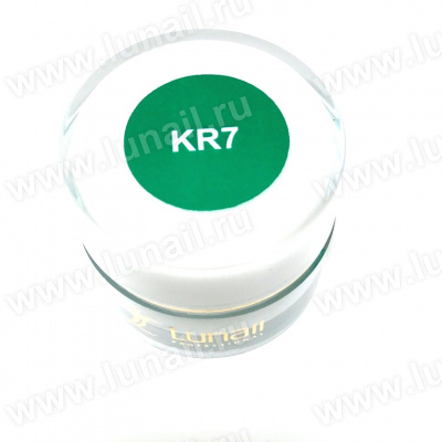 "Gel paint Lunail green ""KR7"" 5 ml"