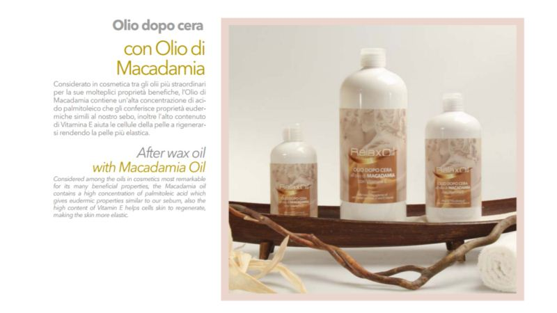 Relax Gold After Wax Oil with Macadamia Oil 500ml