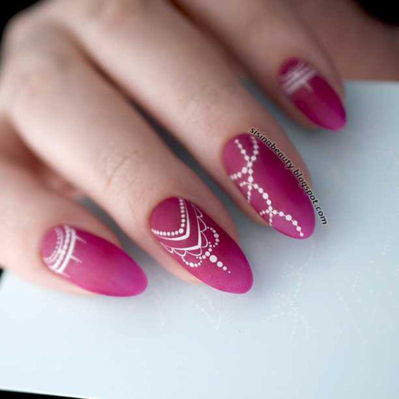 Decal nail sticker White pattern