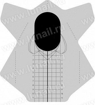 Φόρμες νυχιών – Forms rectangular universal 250 pcs / roll